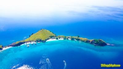 Aerial View of Sambawan Island. Photo by Jalmz