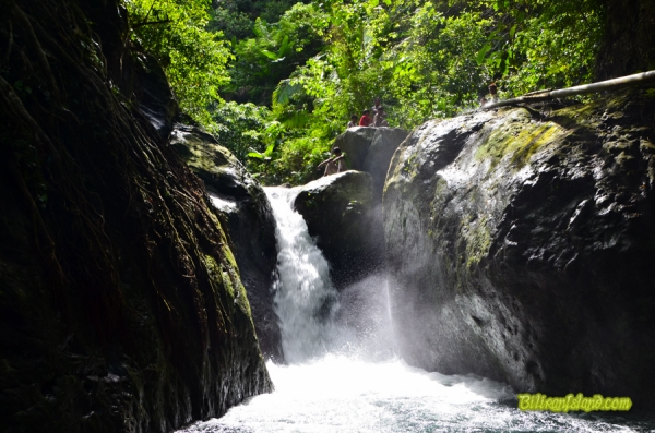 Busai Falls, Brgy. Ungale, Kawayan, Biliran. About 15-minute hike along the banks of Ungale River in Brgy. Ungale.