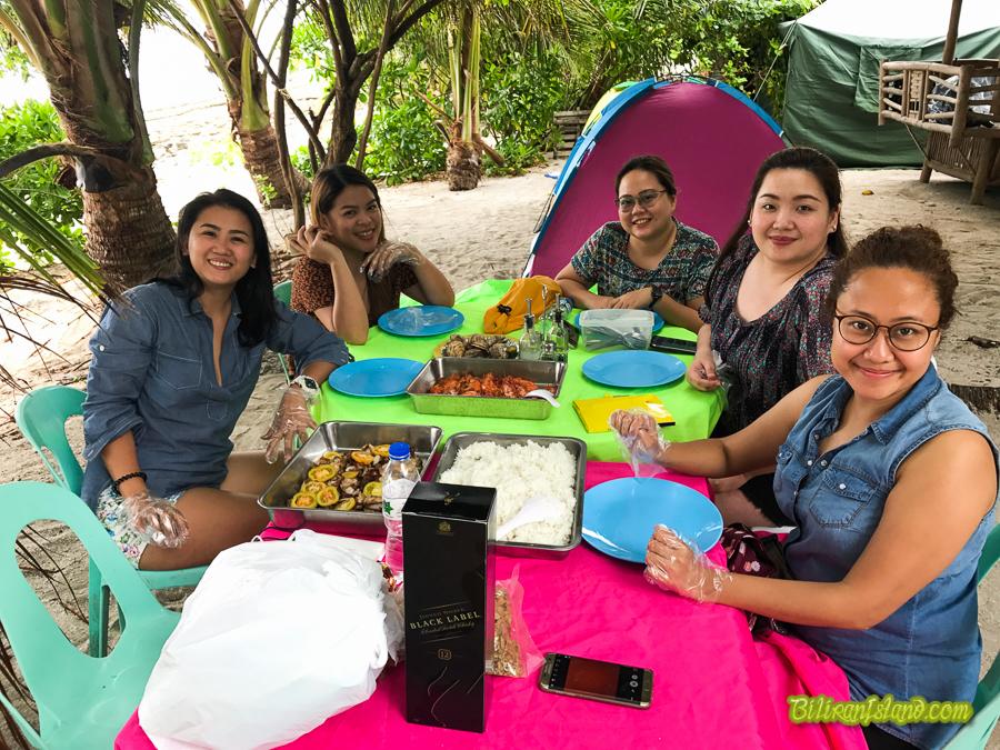 Overnight Camping in Kalanggaman Island