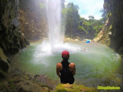 Napusoan Falls. 30 minutes trekking from Mainit Hot Spring in Brgy. Mainit, Caibiran, Biliran. Photo from Jayvee Vermug